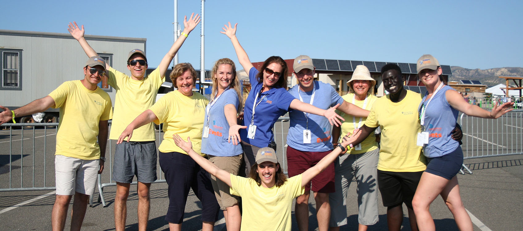 Photo of Solar Decathlon 2015 volunteer program staff celebrating.