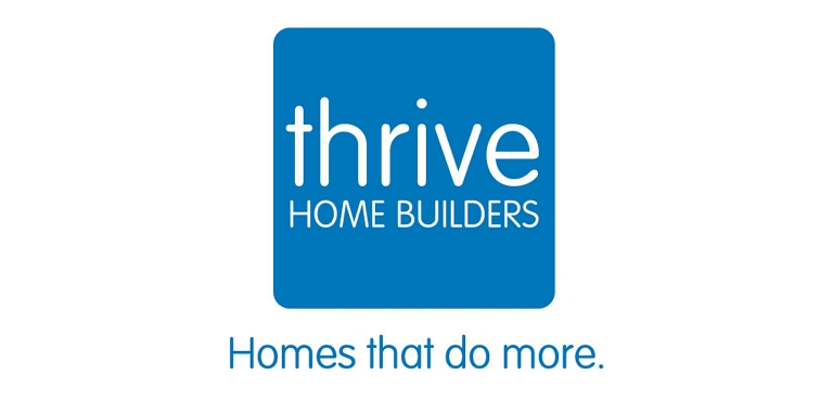 Thrive Home Builders logo.