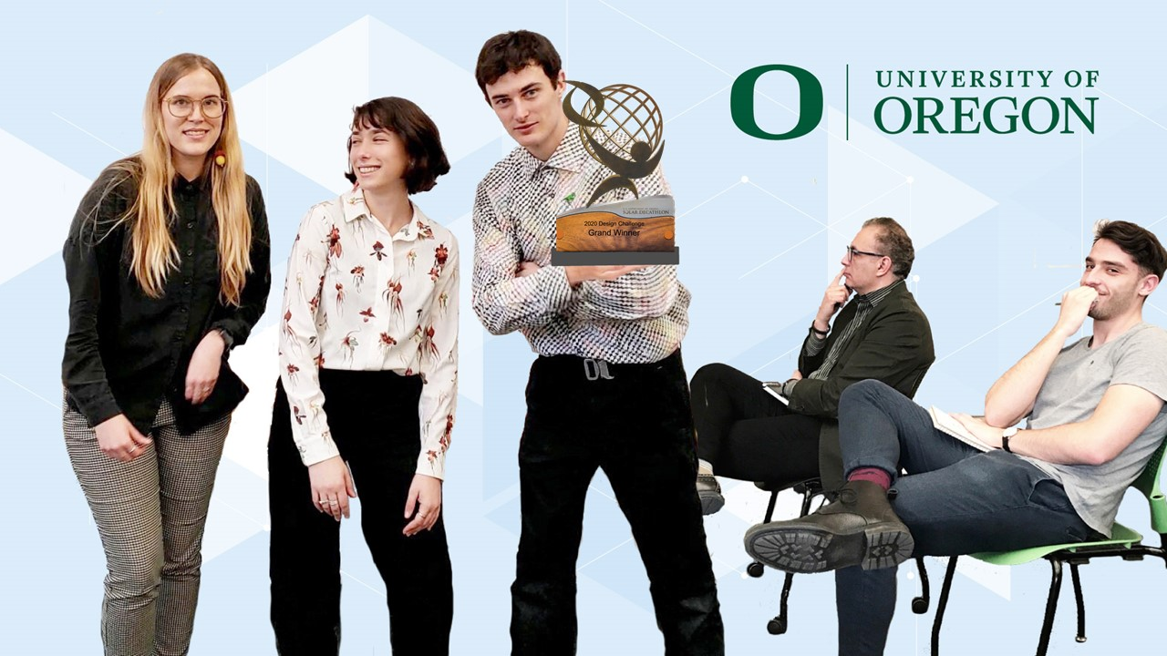 The team from University of Oregon (Eugene, Oregon), was the Grand Winner in the Commercial Division of the U.S. Department of Energy Solar Decathlon Design Challenge, held April 17-19, 2020. Illustration credit: Miami University team.