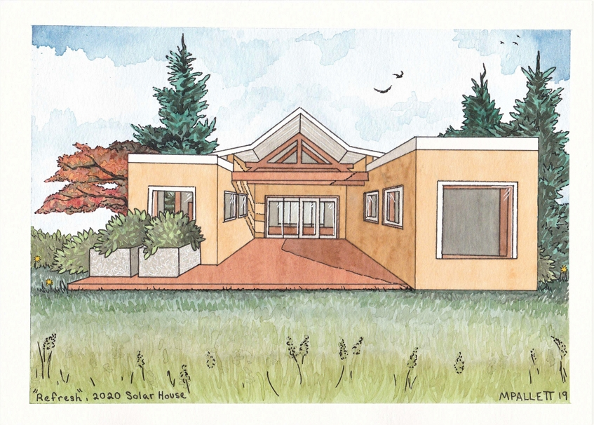 Drawing of Missouri University of Science and Technology model home.