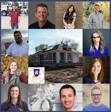 Group photo of the WEBER STATE UNIVERSITY team members for Solar Decathlon 2020.