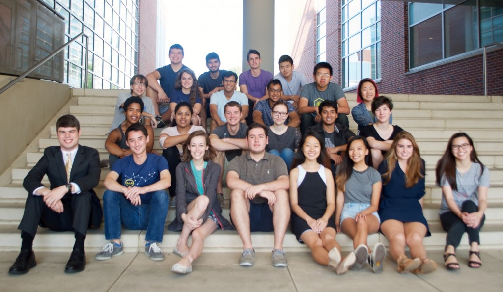 Photo of a group of students on a staircase.
