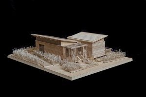 Photo of a model of the WaterShed house.