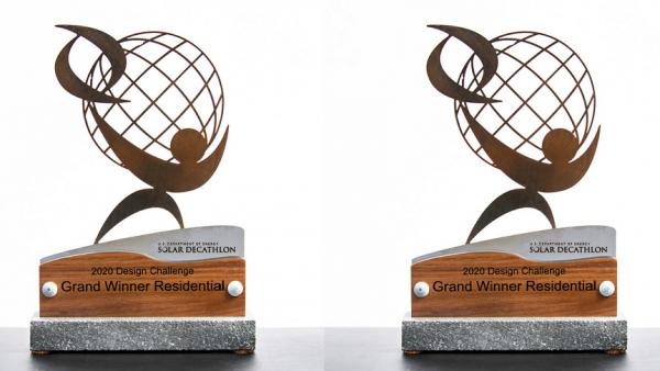 The grand winner trophies