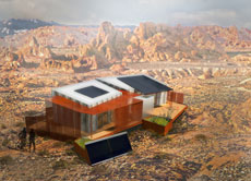 Illustration of the University of Nevada Las Vegas house concept.