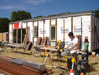 Photo Of The University Of Cornell Solar Decathlon Solar House Under  Construction.